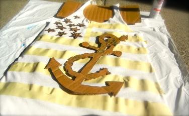 Flag shirt step 1
