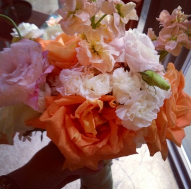 Close up of the bouquet