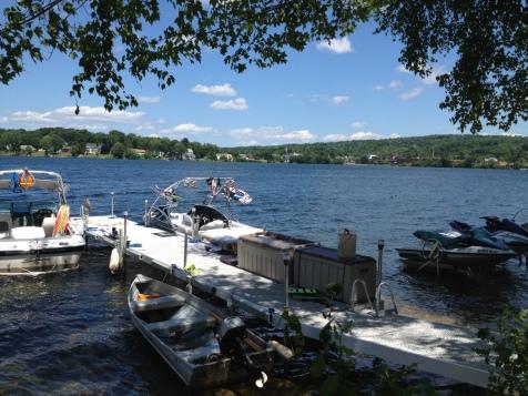 the shore of Lake Opechee, NH