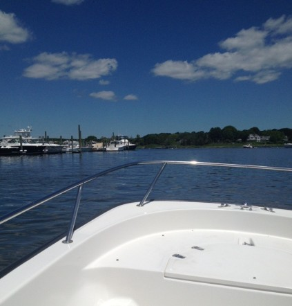 heading out of the boat yard on cape cod!