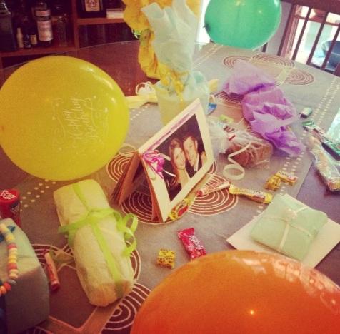 my Boston birthday table!