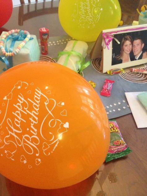 happy birthday balloons!